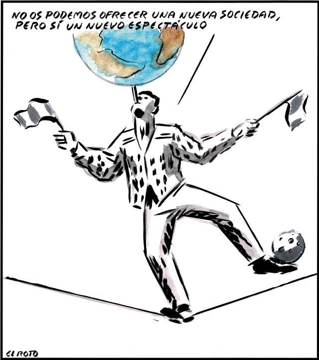 Viñetas para sonreír y pensar: Sobre el circo de los políticos en la  democracia